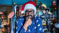 Romesh Ranganathan in the Reluctant Landlord Christmas Special. Pic: Sky UK Ltd