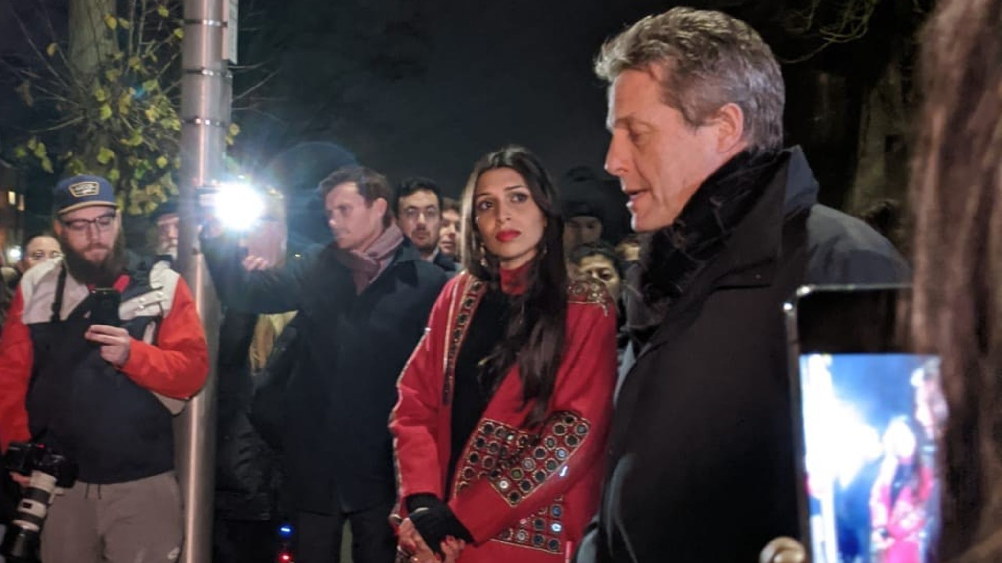 General election: Hugh Grant confronted by anti-racism protesters for backing Labour candidate
