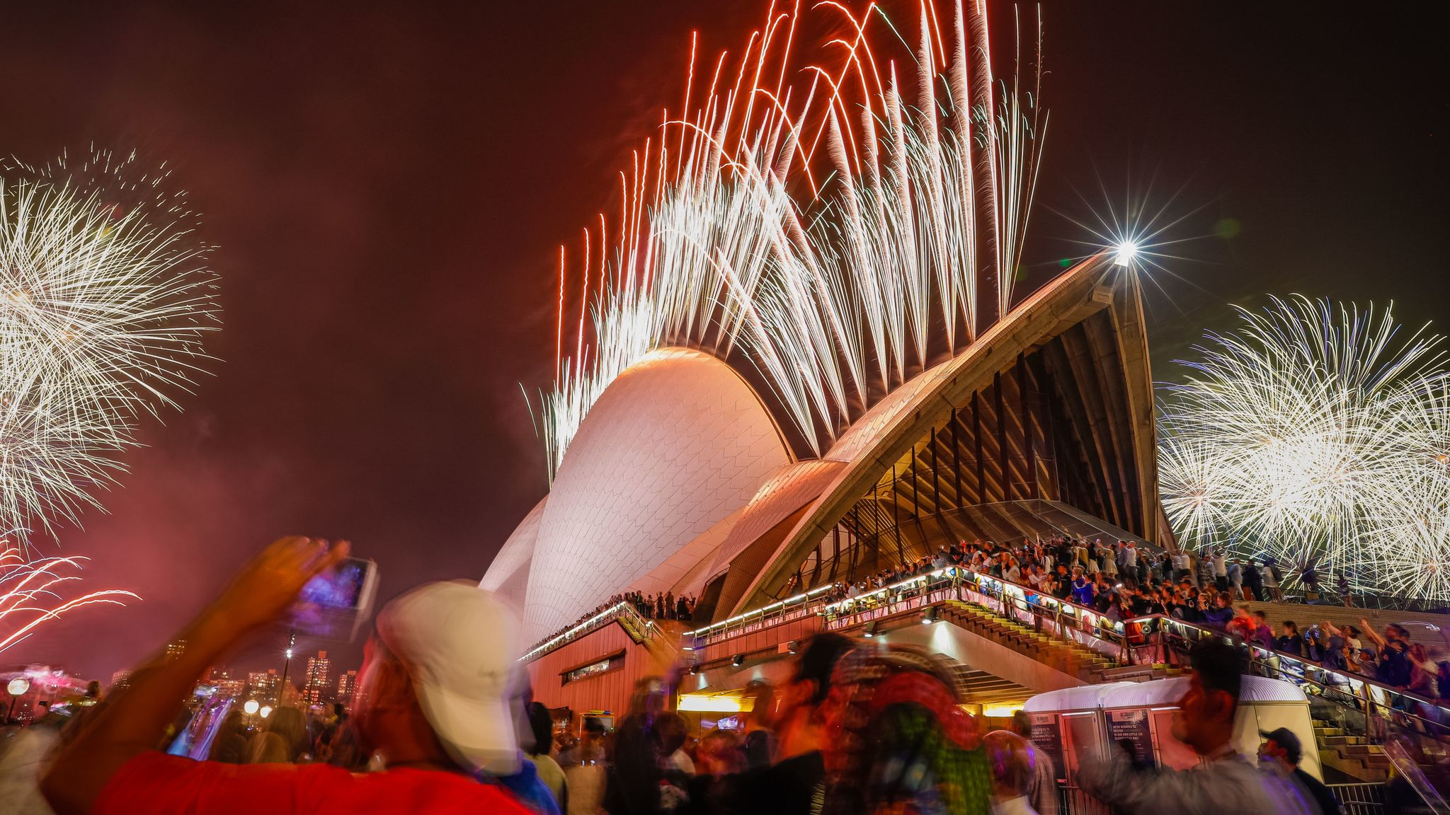 Image result for Australia rings in New Year 2020 with fireworks images