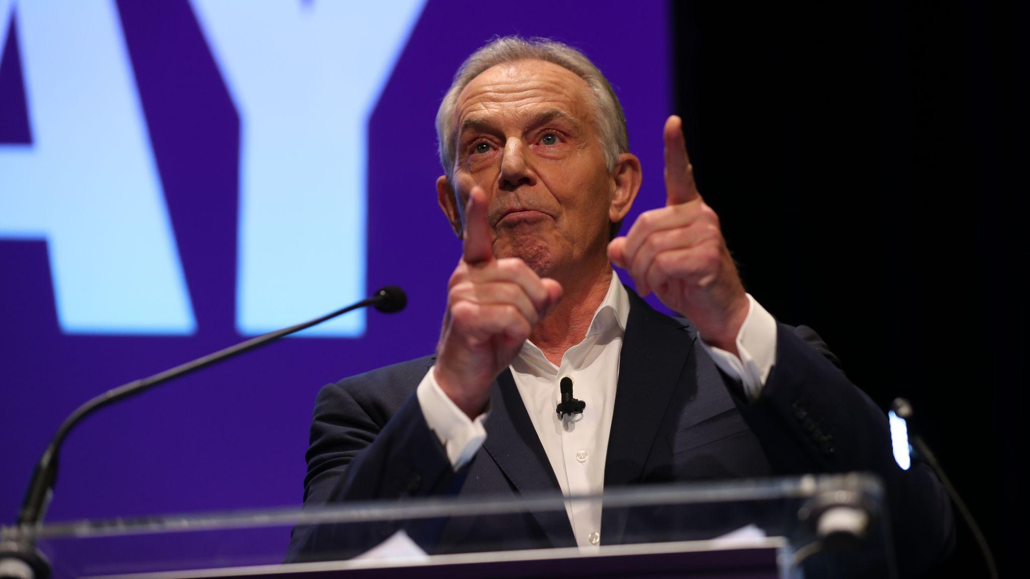 General election: 'Thank God for John Major' - Tony Blair praises predecessor's Brexit intervention