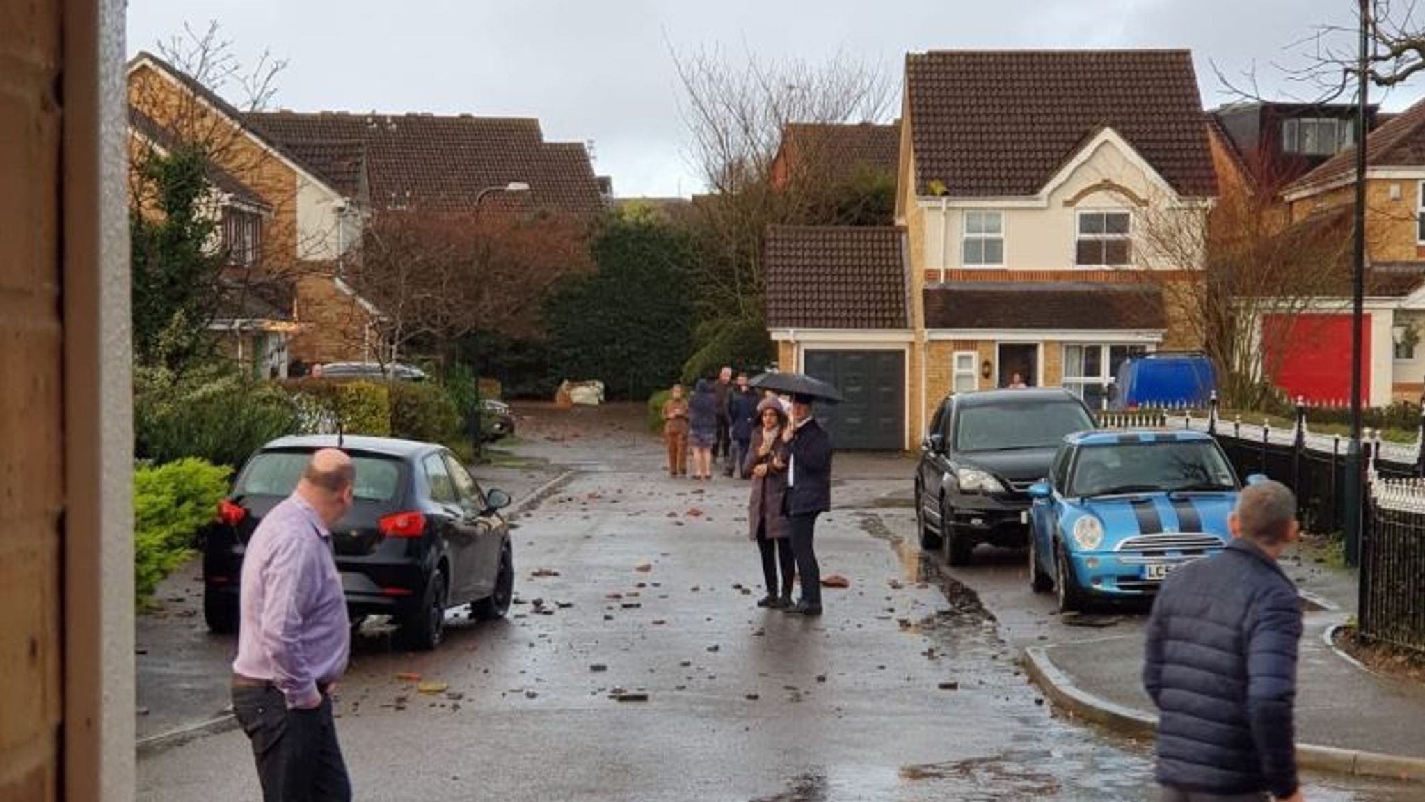 Christmas weather: Tornado damages homes and cars in Surrey