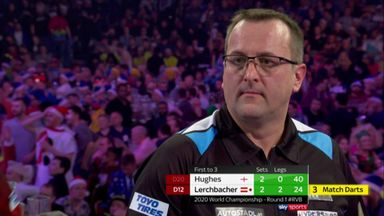 Lerchbacher misses EIGHT match darts!