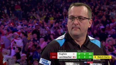 Lerchbacher misses EIGHT match darts!