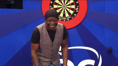 Bailey and Amos try out darts in 'I'm Game'