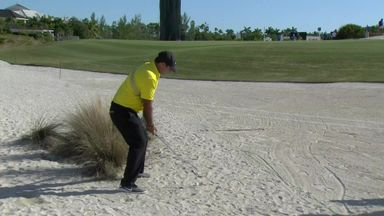 Reed's controversial bunker shots