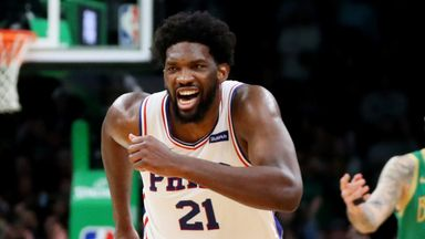 Embiid scores 38 as Sixers top Celtics