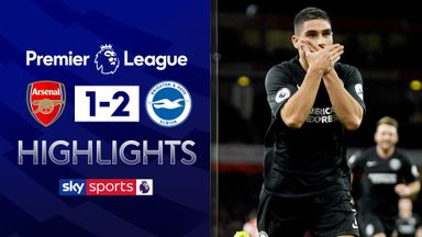 Brighton victory extends Arsenal's winless run