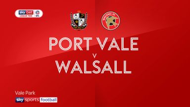 Port Vale 0-1 Walsall