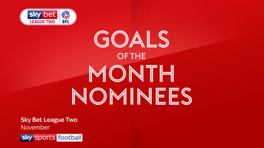 League Two goals of the month