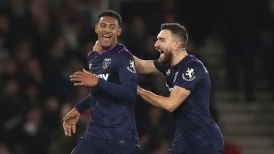 HT Southampton 0-1 West Ham