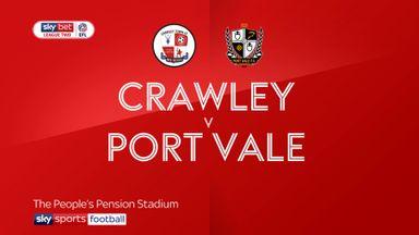 Crawley 0-0 Port Vale
