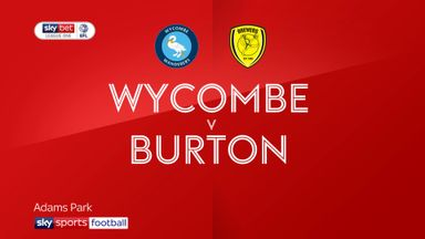Wycombe 2-0 Burton