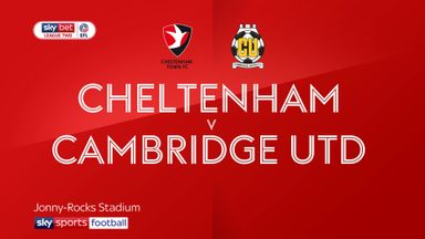 Cheltenham 1-1 Cambridge Utd