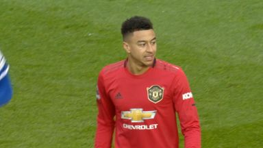 Lingard shot goes inches wide (1)