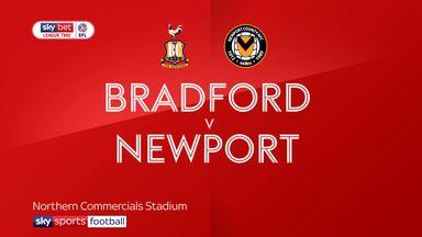 Bradford 1-0 Newport