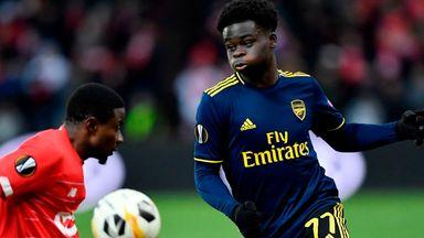 'Saka a tremendous talent for Arsenal'