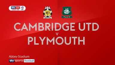 Cambridge 1-0 Plymouth