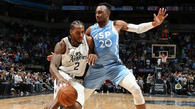 NBA Wk8: Clippers 124-117 Timberwolves