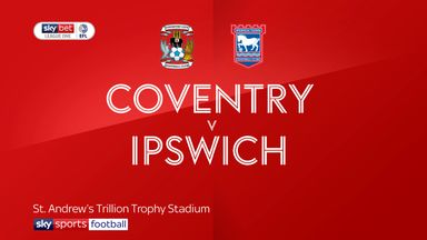 Coventry 1-1 Ipswich