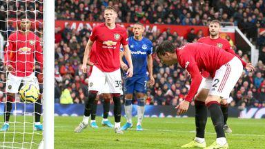 HT Manchester Utd 0-1 Everton