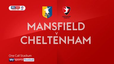 Mansfield 0-3 Cheltenham
