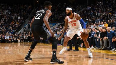 NBA Wk 8: Knicks 124-122 Warriors (OT)