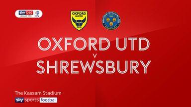 Oxford United 0-0 Shrewsbury