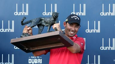 Larrazabal celebrates Dunhill win