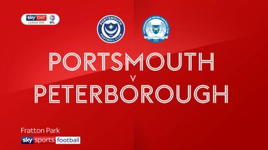 Portsmouth 2-2 Peterborough
