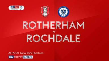 Rotherham 0-1 Rochdale