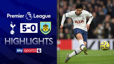 Spurs hit Burnley for five