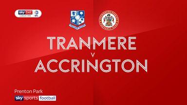 Tranmere 1-1 Accrington Stanley