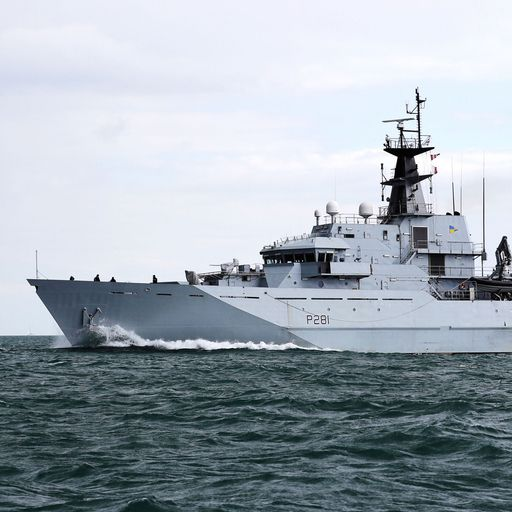 British warship shadows Russian navy vessel in the English Channel