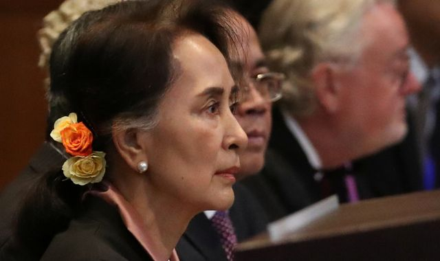 Aung San Suu Kyi: Myanmar leader appears at The Hague for genocide hearing