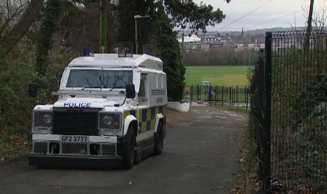 Belfast: Police car targeted in suspected grenade attack