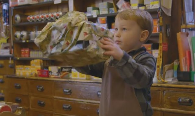 Shop's £100 Christmas advert featuring young boy goes viral