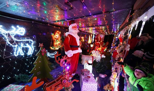 Grandad spends three weeks turning his home into Christmas grotto