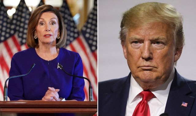Donald Trump: Process of impeachment has moved to next stage, Pelosi says
