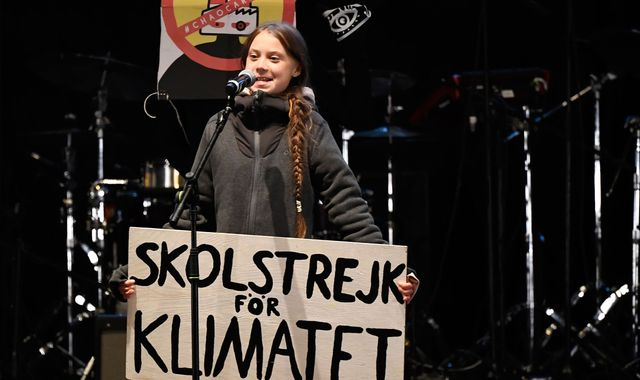 Greta Thunberg marches through Madrid ahead of COP25 climate conference