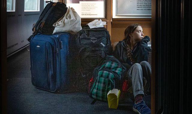 Greta Thunberg tackled over 'overcrowded' train tweet by Deutsche Bahn