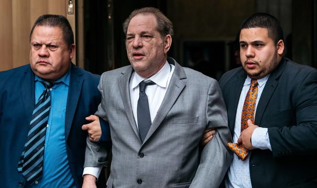 Harvey Weinstein accused of breaching bail conditions by mishandling electronic tag