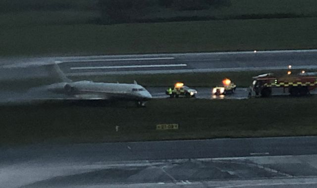 Liverpool FC owner Mike Gordon on board plane that skidded off runway at John Lennon Airport