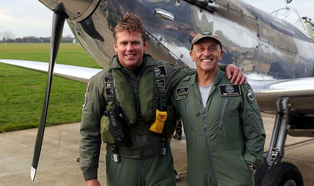 Spitfire pilots return to UK after epic round-the-world trip