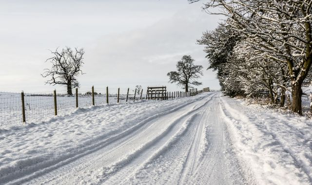 UK weather: Snow hits the North as widespread heavy rain and blustery gales expected