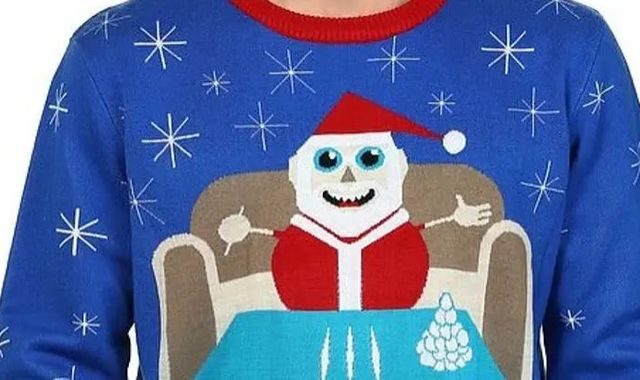 Walmart pulls jumper appearing to show Santa with lines of cocaine