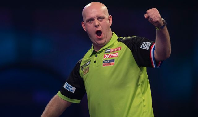 PDC Darts: Michael van Gerwen, Luke Humphries and Kim Huybrechts win on opening night