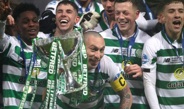 Rangers 0-1 Celtic: Ten-man Bhoys win 10 trophies in a row thanks to inspirational Fraser Forster