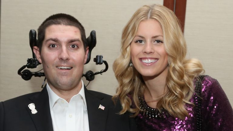 NEW YORK, NY - DECEMBER 09:  Pete Frates and Julie Frates attend the Sportsman Of The Year 2014 Ceremony on December 9, 2014 in New York City.  (Photo by Rob Kim/Getty Images for Sports Illustrated)