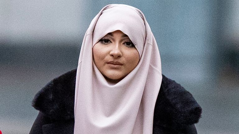 Amaani Noor, 21, arrives at Liverpool Crown Court where she is appearing on charges of funding an Islamic State group. Ms Noor is charged with donating 45 dollars, around ??35, to organisation Merciful Hands knowing it would be used for the purposes of terrorism on May 23 last year.