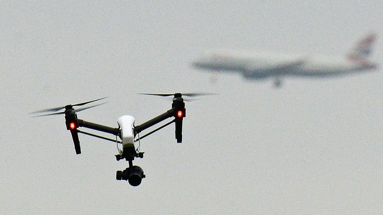 File photo dated 25/02/17 of a drone flying as tens of thousands of drone owners face a ??1,000 fine if they fail to sign on to a newly introduced register.